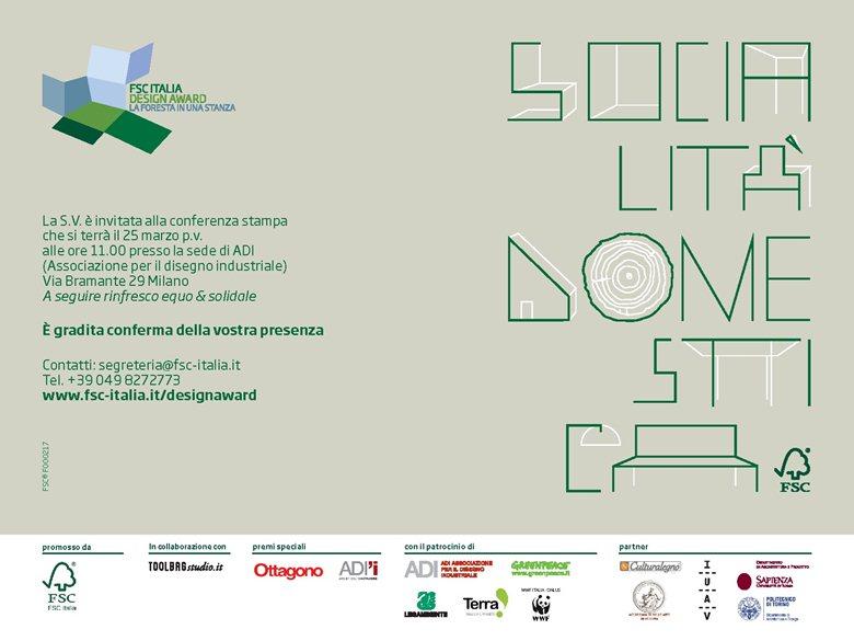 FSC Italia Design Award 2013 - Premio Speciale Atelier dell'innovazione