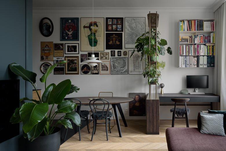 Dark apartment in a tenement house