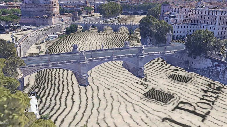 Mappe storiche georeferenziate su modelli 3d Roma Napoli