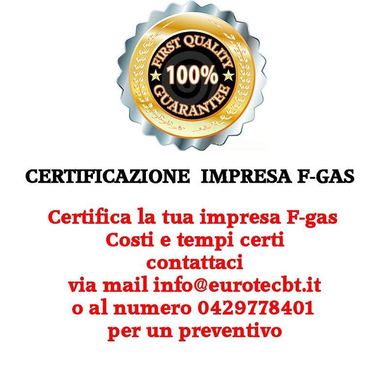 Certificazione impresa F-GAS