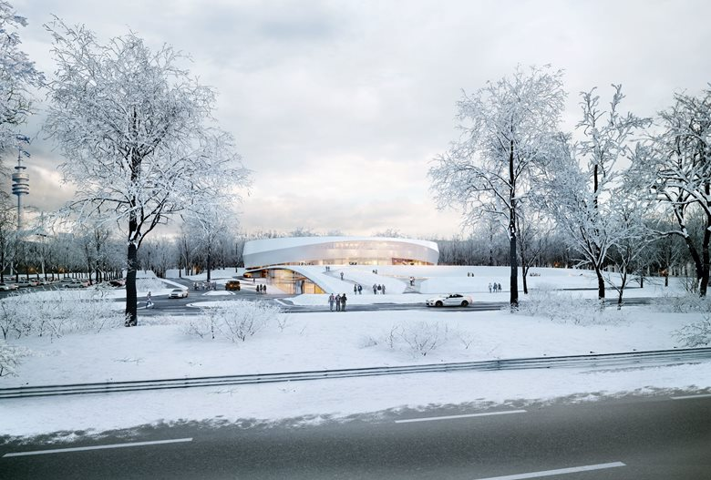 Sport Arena in the Olympic Park in Munich