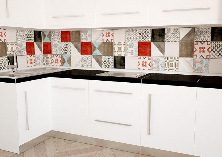 Rivestimento per cucine con Patchwork Iris Kreo | Valerio Mascia