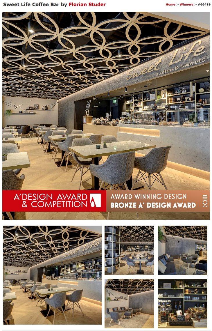 Sweet Life Mall of Switzerland A'Design Award winner