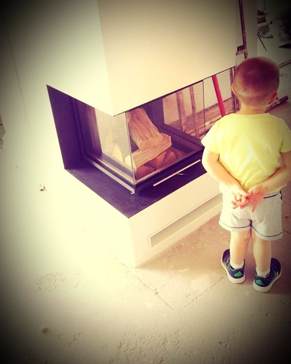 radiant fireplace with Brunner