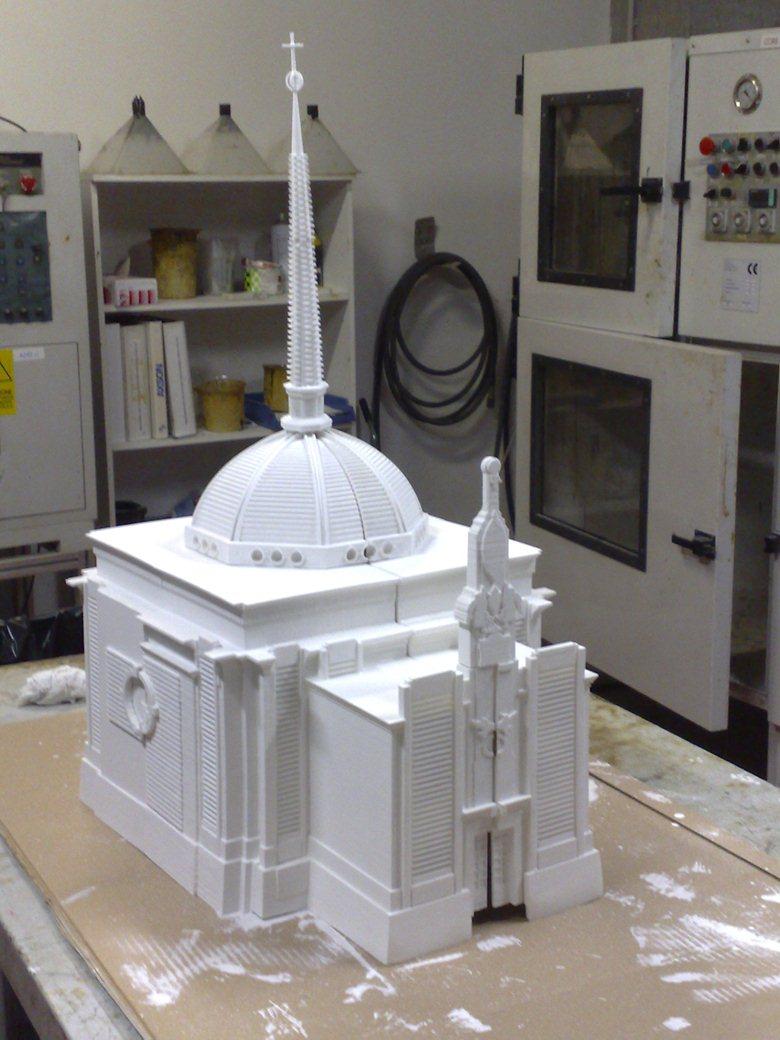 Plastico chiesa in Sinterizzazione Nylon e CNC
