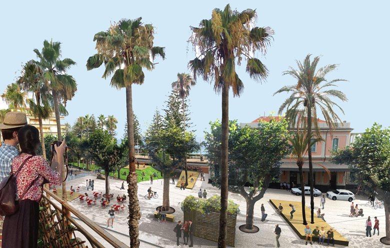Concorso di idee a Bordighera: Riqualificazione di piazza Eroi della Libertà e di Corso Italia -progetto primo classificato-