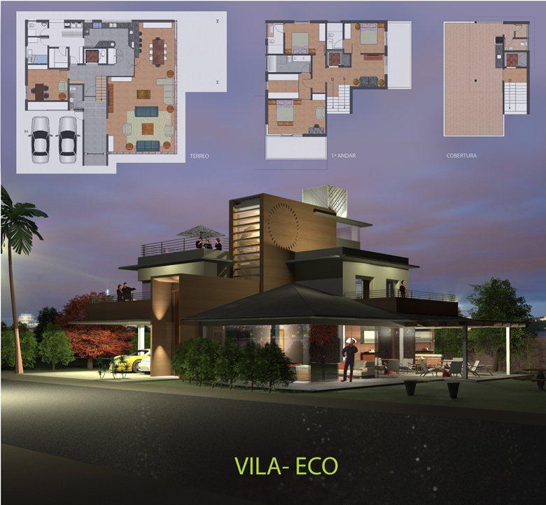 Residência Sustentável em Condomínio Fechado.