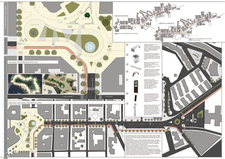 Riqualificazione di piazza Diaz e del Viale XXV Luglio - II classificato
