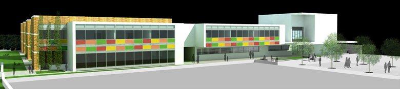 Polo scolastico con ampliamento dell'edificio esistente