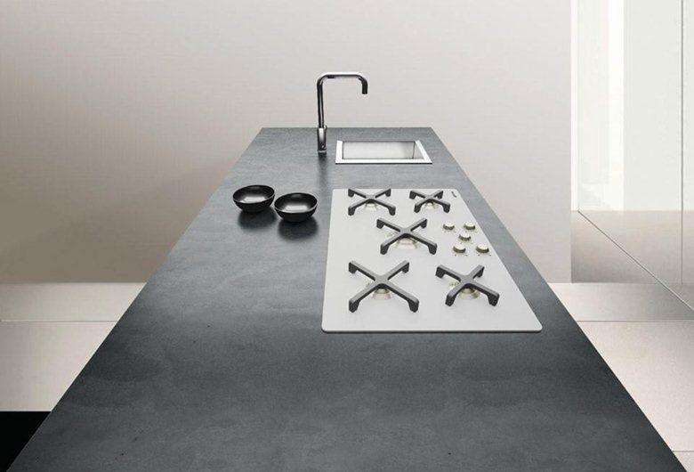 piano cucina in cemento | Inmateria