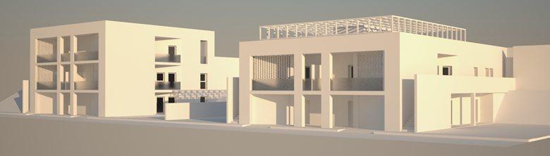 Ristrutturazione edilizia leggera di due edifici incompleti