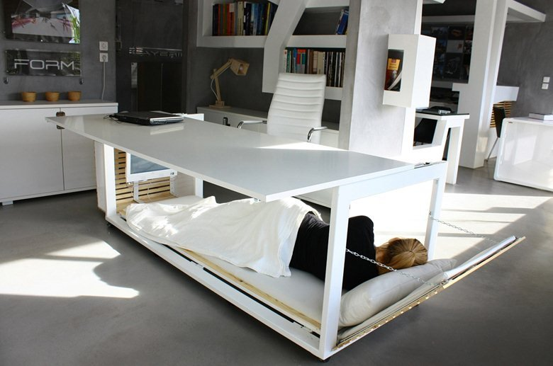 Desk convertible to Bed