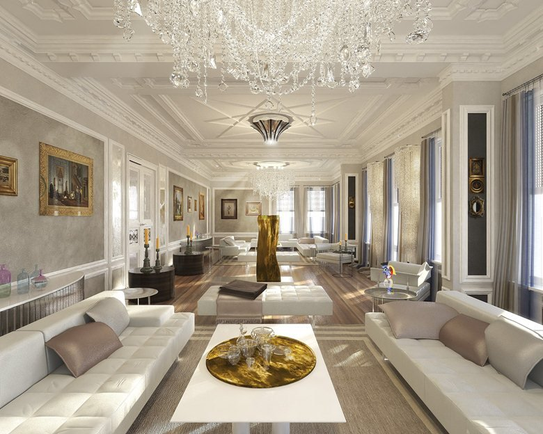 Render arredamento d 39 interni villa paolo longoni for Arredamento casa design interni