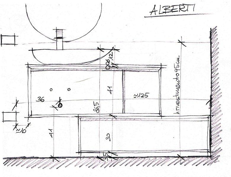 Mobile bagno prospetto per assemblaggio | ARREDACASAOnLine.it