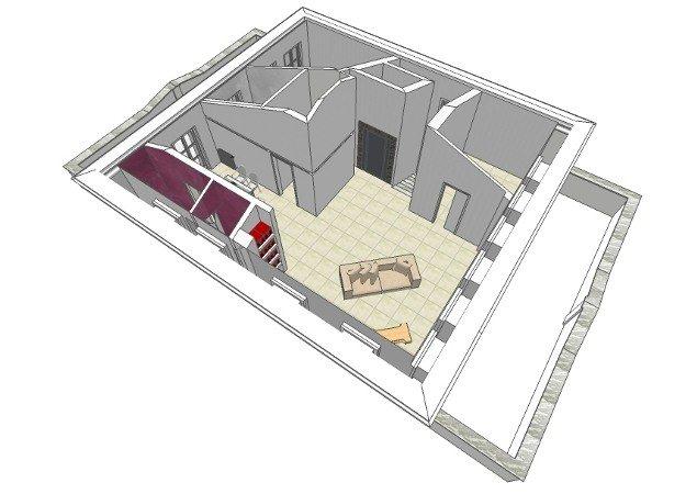Proposta di progetto per nuova distribuzione degli spazi interni