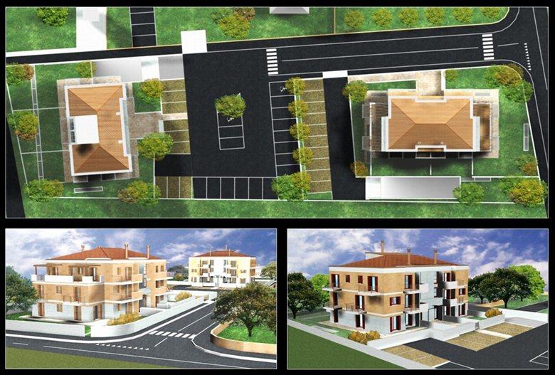 progetto per la costruzione di 28 appartamenti suddivisi in tre palazzine