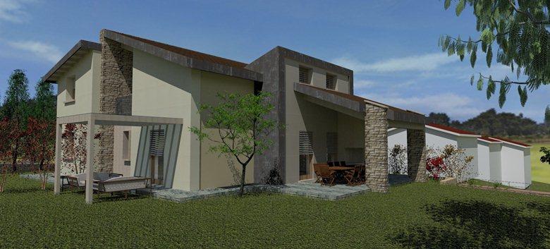 progetto villetta residenziale
