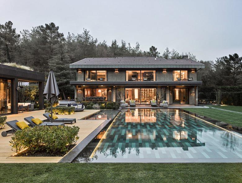 Garden Design Villa Bahcekoy Istanbul