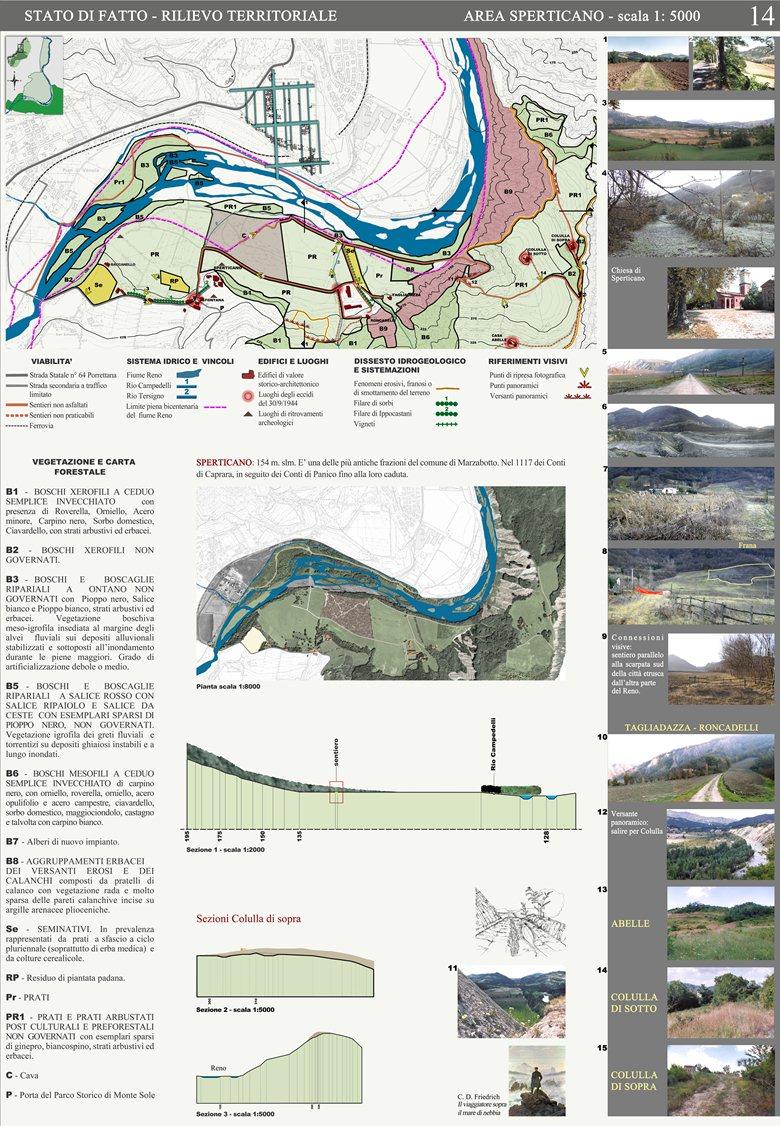 Progettazione ambientale: Marzabotto-Parco Storico di Monte Sole (BO)