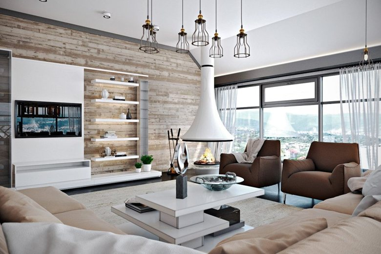 Large Design Project Living Room Kitchen Dining Room