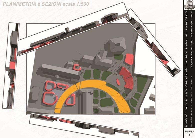 Progetto per due piazze nell'area ex-Ilva a Follonica