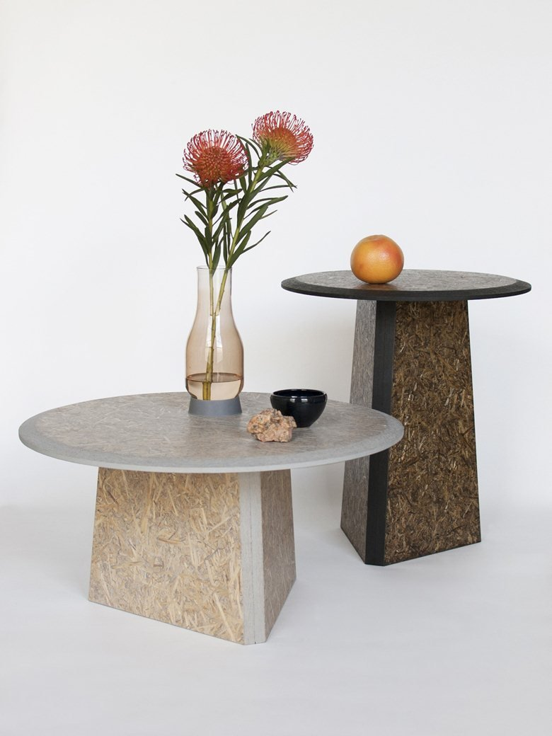 Straw Side Tables