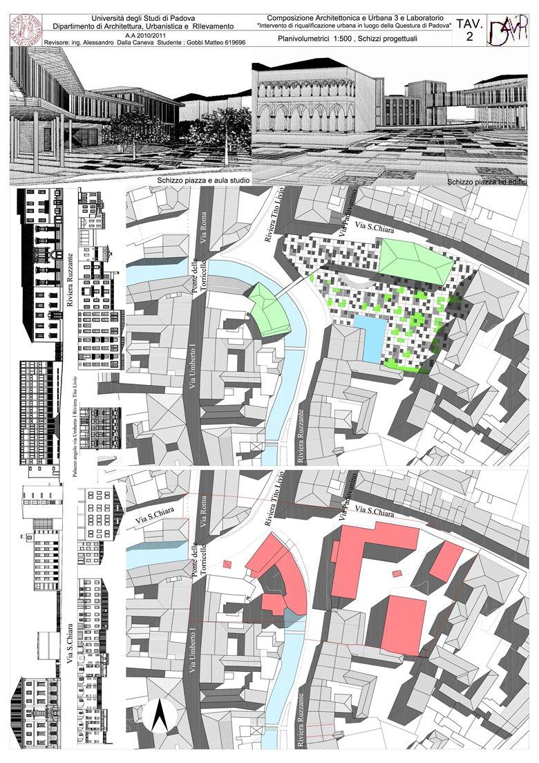 Intervento di riqualificazione urbana in luogo della questura di Padova