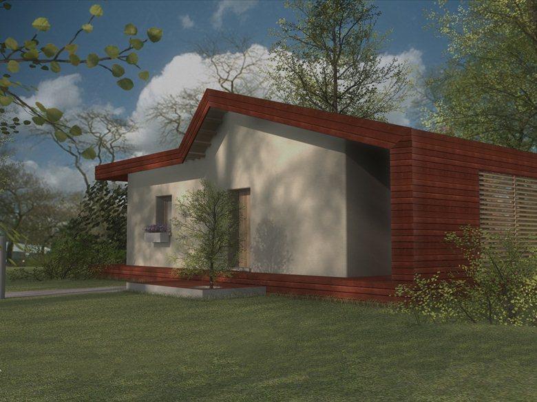 casa di paglia - rendering