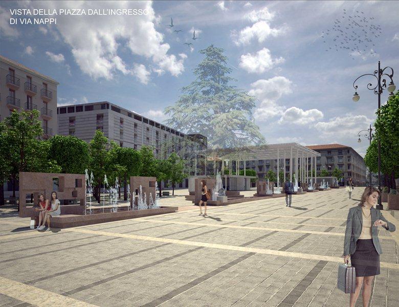 Riqualificazione aree e spazi pubblici di piazza Libertà.