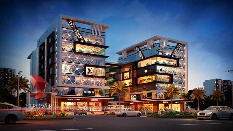 3d Rendering Of A Shopping Mall Threed Power