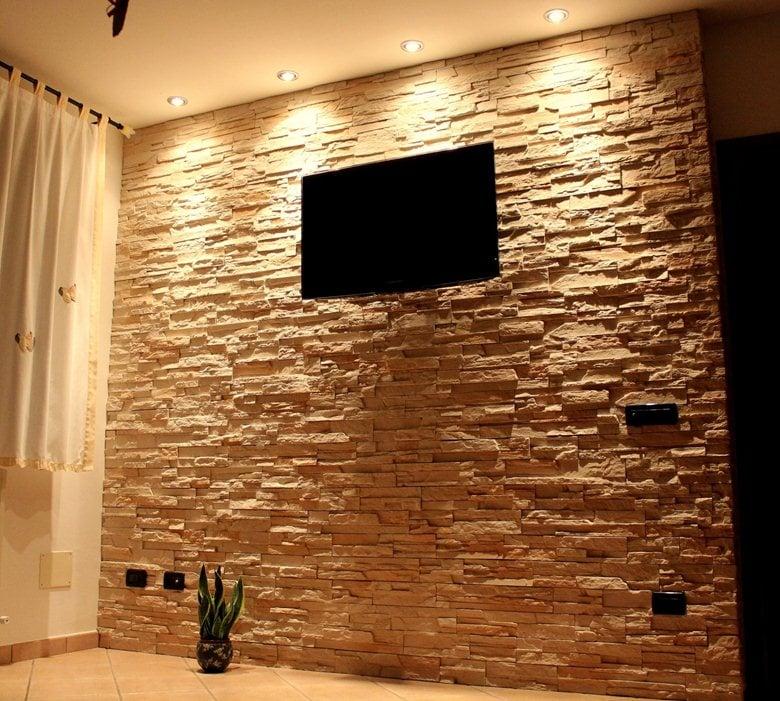 wall rivestimento della parete in pietra ricostruita live stone pietre e mattoni ecologici