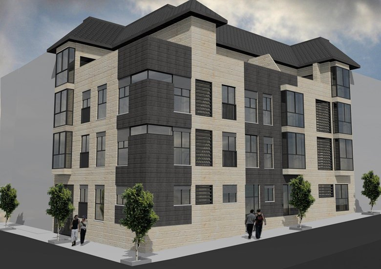 Render palazzina per 14 appartamenti