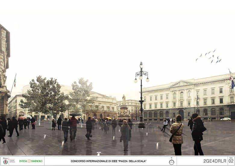 Piazza della Scala - 4° classificato del concorso di idee