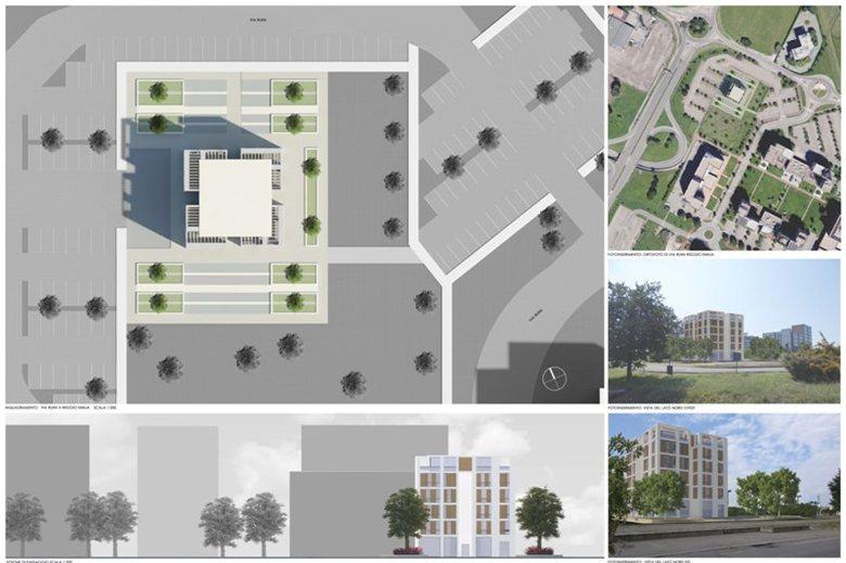 Progetto di una palazzina in Via Ruini a Reggio Emilia