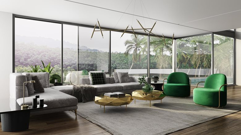astounding 3d luxury living rooms | Modern Luxury. Living Room Design 3dvisualization ...
