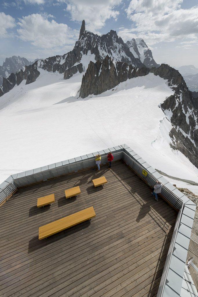 Rivestimenti e pavimenti in legno Funivia Skyway Monte Bianco
