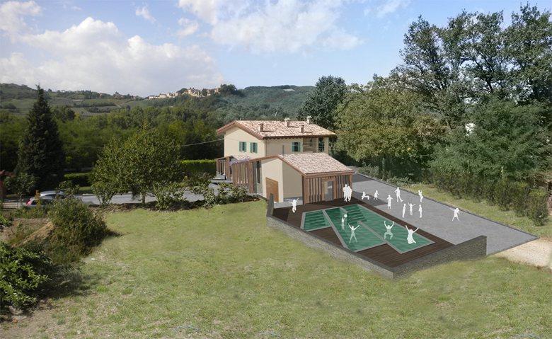 Innesti architettonici con piscina