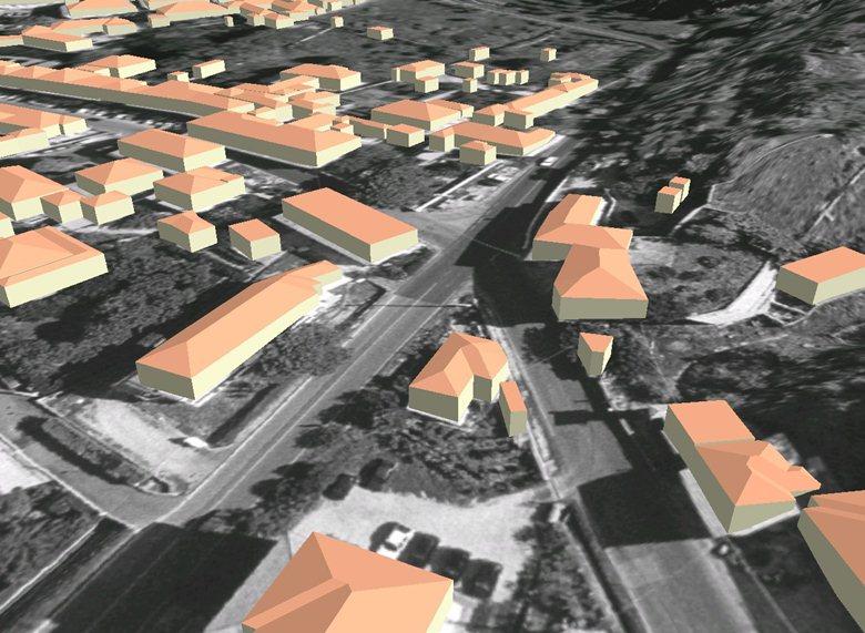 Plastico virtuale dell'area del M.te Castellare a S. Giuliano Terme