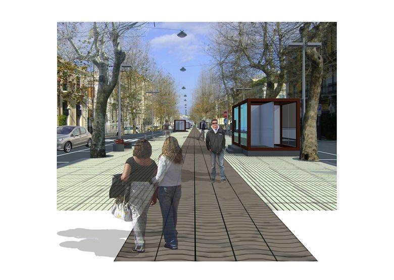 Progetto Preliminare di isola pedonale da Piazza Cairoli alla Dogana (Rambla)