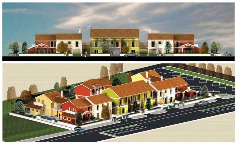 progetto per la costruzione di abbinate a Treviso