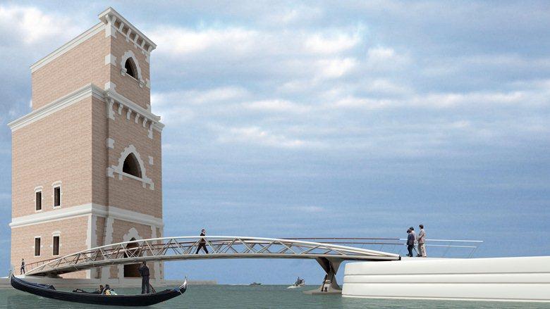Torre di Porta Nuova - Arsenale di Venezia/ Spazio espositivo, Uffici, Ponte Pedonale