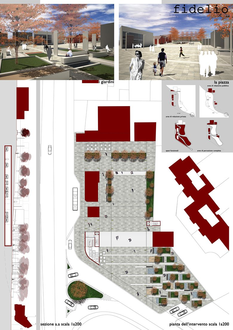 Riqualificazione della Piazza del Dazio in località La Storta (Roma)
