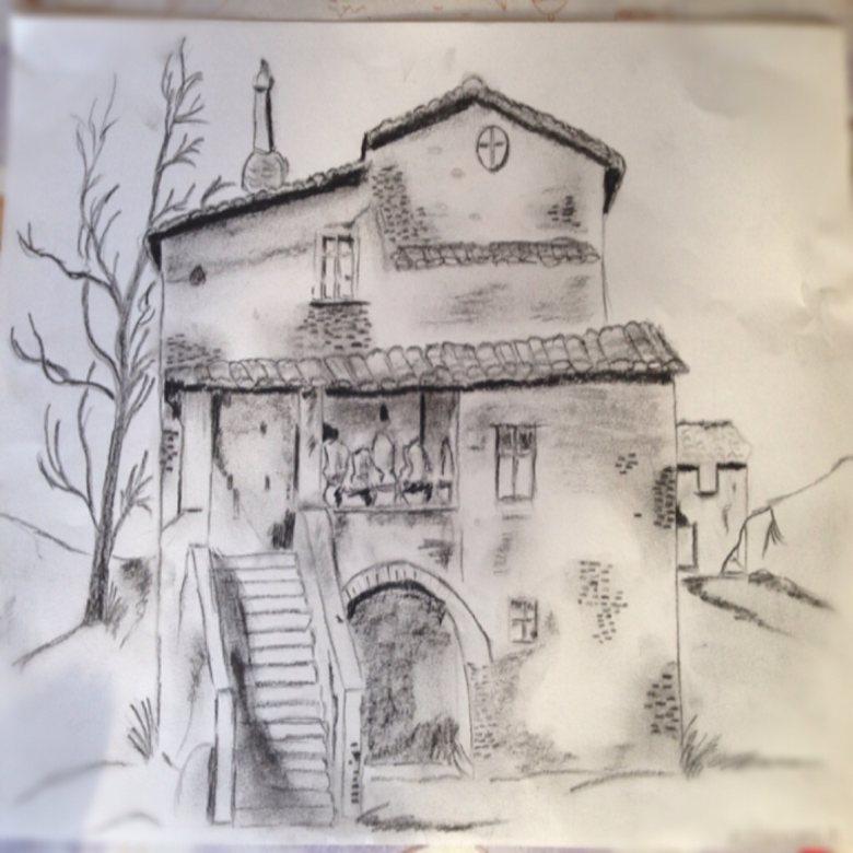 bozza di casa rustica