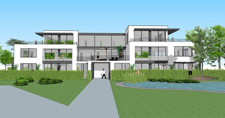 Projet d'immeuble à appartements