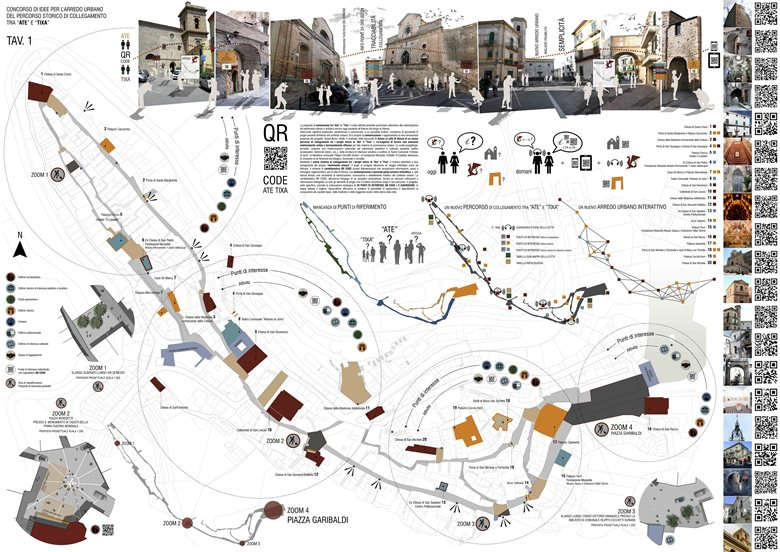 """Concorso di idee per l'arredo urbano del percorso storico di collegamento tra """"Ate"""" e """"Tixa"""""""