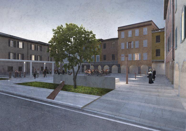 Piazza Leoni a Torrechiara