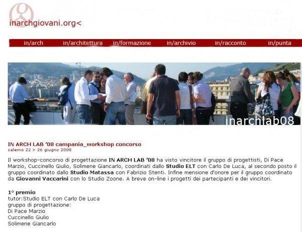 IN/ARCH 2008 - 1° premio
