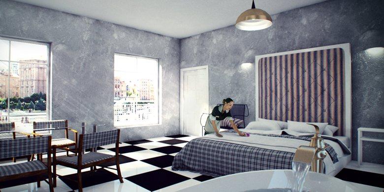 Hotel room, all models myself