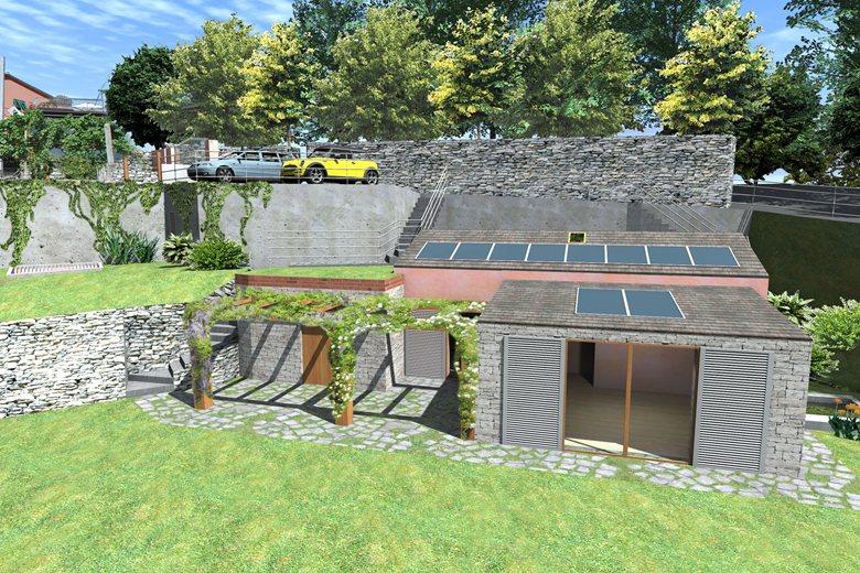 Progetto di ricostruzione ed ampliamento di un edificio esistente