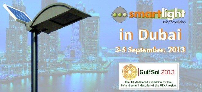 The Smartlight solar streetlights in DUBAI